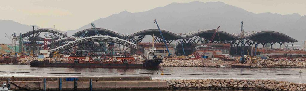 The Border Crossing Facility for the new Hong Kong – Macau – Zhuhai Bridge, Lantau, Hong Kong