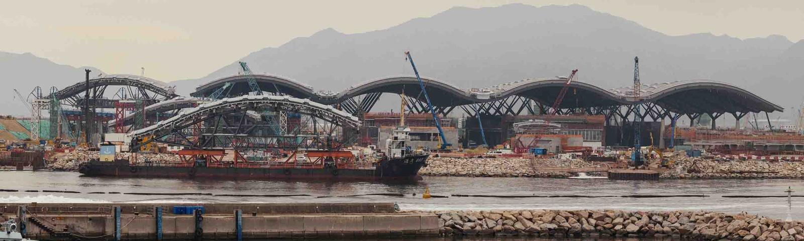 The Border Crossing Facility for the new Hong Kong - Macau - Zhuhai Bridge