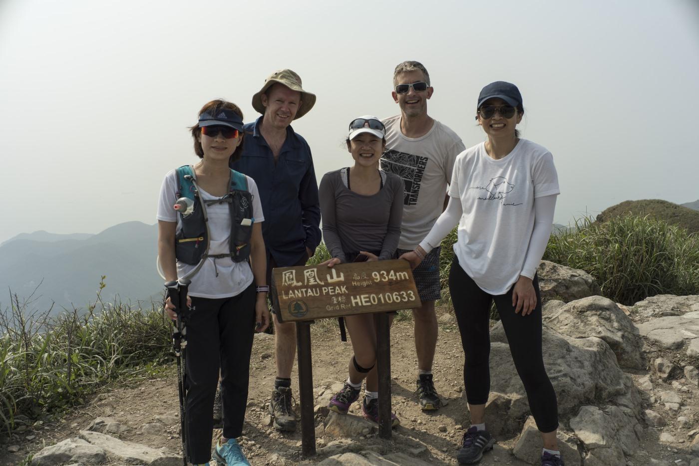 CDC team on top of lantau peak