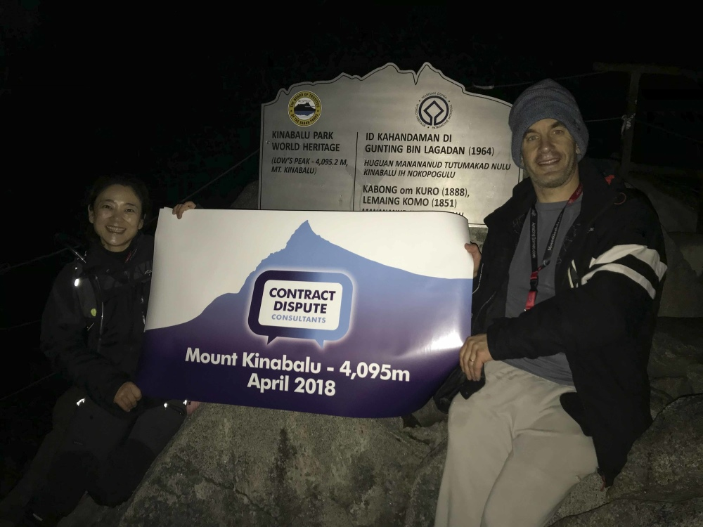 CDC team scale Mount Kinabalu