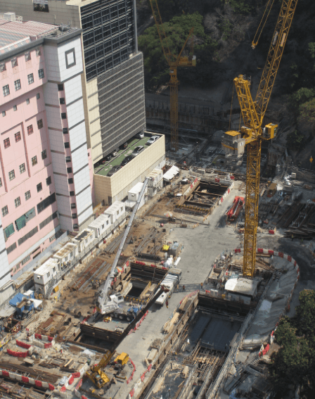 Kennedy Town Station construction