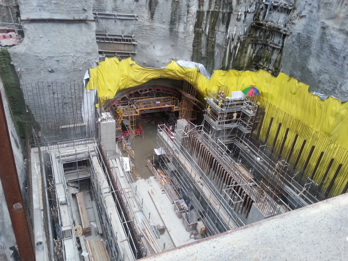 Kennedy Town Station Tunnel construction