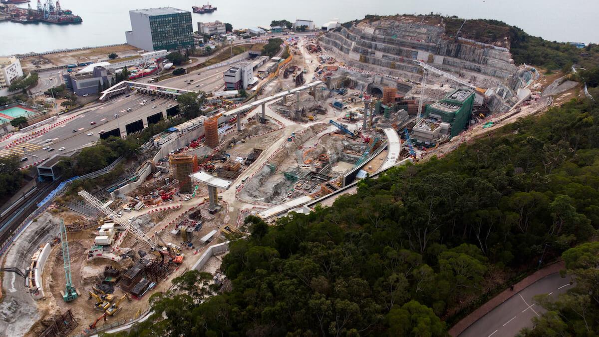 Lam Tin Tunnel construction